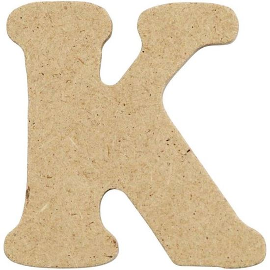 Picture of MDF Small Wooden Letter K (4cm)