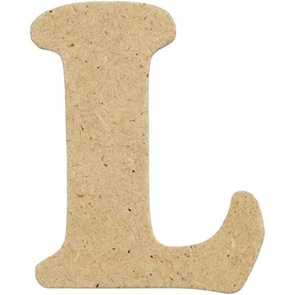 Picture of MDF Small Wooden Letter L (4cm)