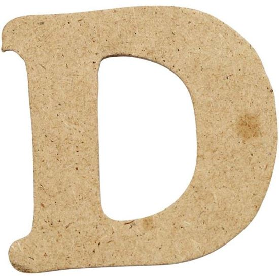Picture of MDF Small Wooden Letter D (4cm)