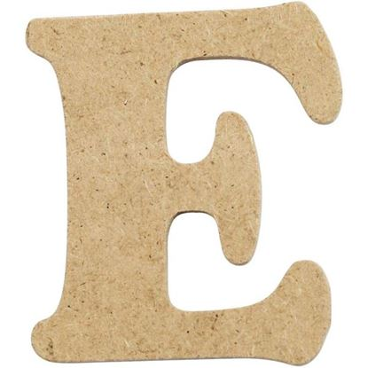 Picture of MDF Small Wooden Letter E (4cm)