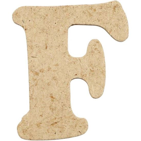 Picture of MDF Small Wooden Letter F (4cm)