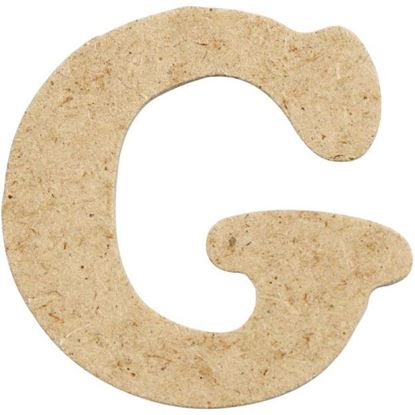 Picture of MDF Small Wooden Letter G (4cm)