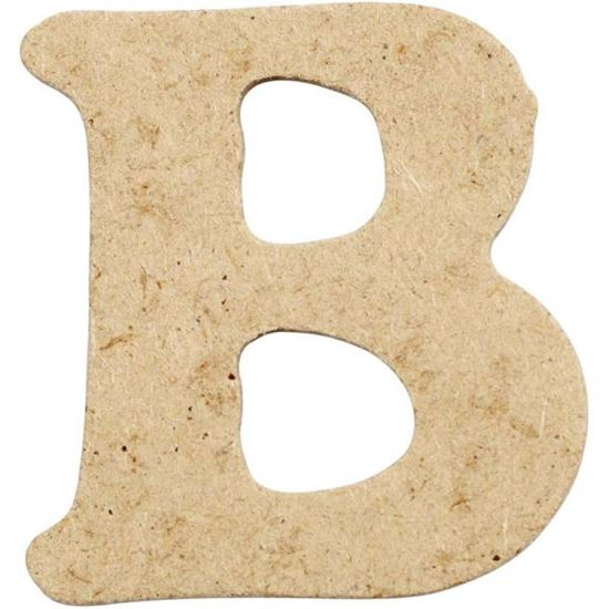 Picture of MDF Small Wooden Letter B (4cm)