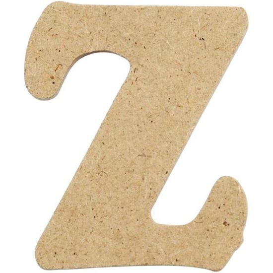 Picture of MDF Small Wooden Letter Z (4cm)