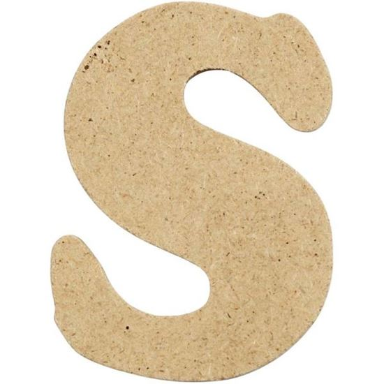 Picture of MDF Small Wooden Letter S (4cm)
