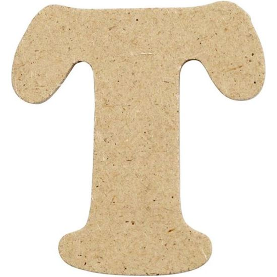Picture of MDF Small Wooden Letter T (4cm)