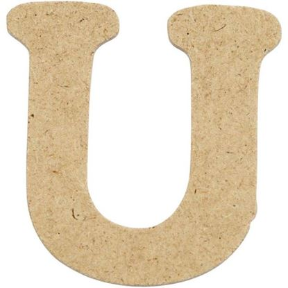 Picture of MDF Small Wooden Letter U (4cm)