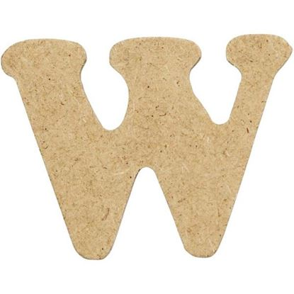 Picture of MDF Small Wooden Letter W (4cm)