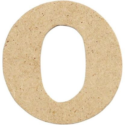 Picture of MDF Small Wooden Letter O (4cm)