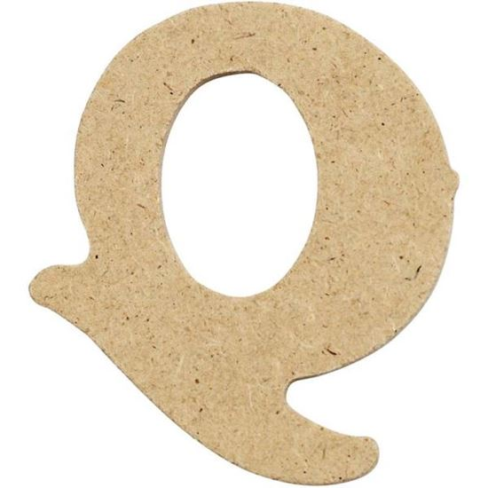 Picture of MDF Small Wooden Letter Q (4cm)