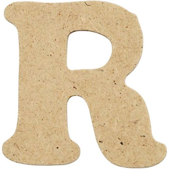 Picture of MDF Small Wooden Letter R (4cm)