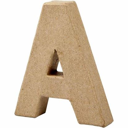 Picture of Paper Mache 10cm Letter A
