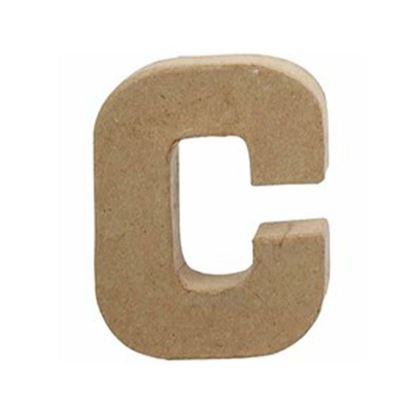 Picture of Paper Mache 10cm Letter C