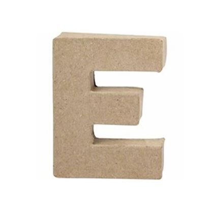 Picture of Paper Mache 10cm Letter E