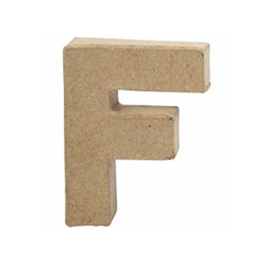 Picture of Paper Mache 10cm Letter F