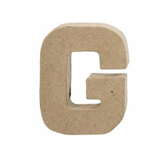 Picture of Paper Mache 10cm Letter G