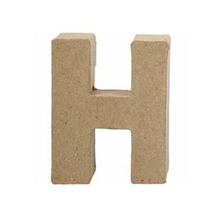 Picture of Paper Mache 10cm Letter H