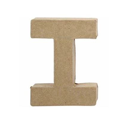 Picture of Paper Mache 10cm Letter I