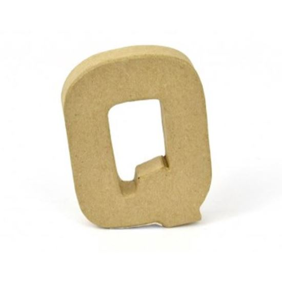 Picture of Paper Mache 10cm Letter Q