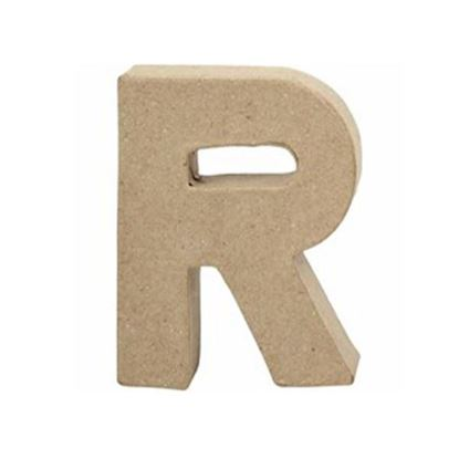 Picture of Paper Mache 10cm Letter R
