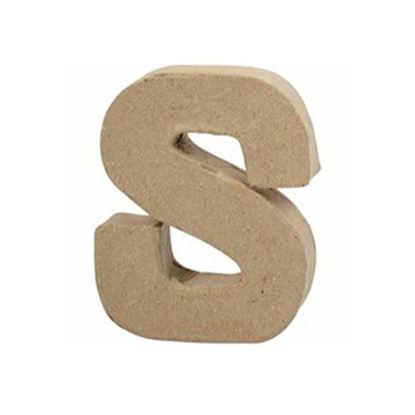 Picture of Paper Mache 10cm Letter S