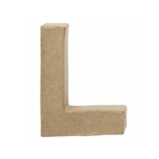 Picture of Paper Mache 10cm Letter L