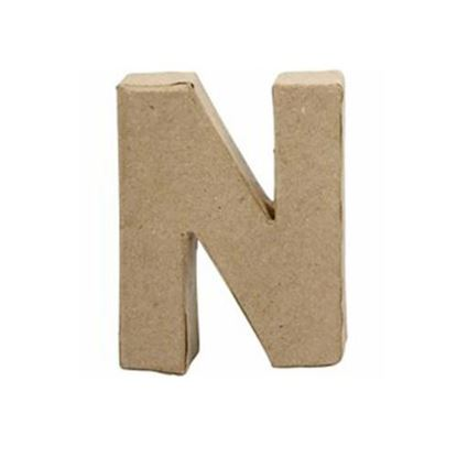 Picture of Paper Mache 10cm Letter N