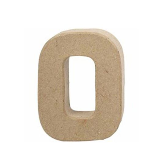 Picture of Paper Mache 10cm Letter O