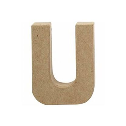 Picture of Paper Mache 10cm Letter U