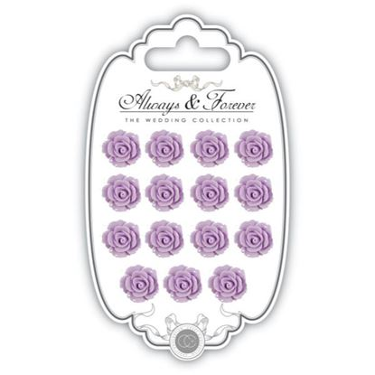 Picture of Craft Consortium Always and Forever The Wedding Collection Resin Flowers - Lilac