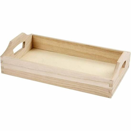Picture of Wooden Tray with Handles for Decoupage / Decorating