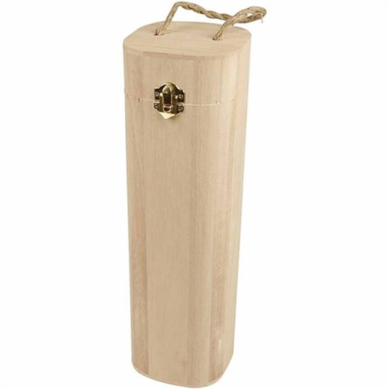 Picture of Wooden Wine Box with String Handle