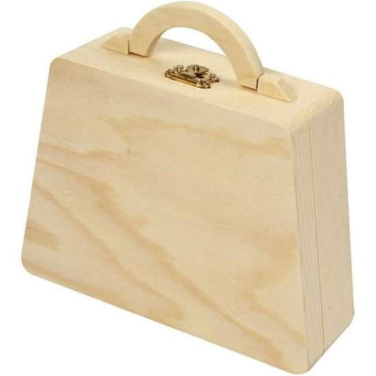 Picture Of Wooden Handbag For Decoupage Decoration
