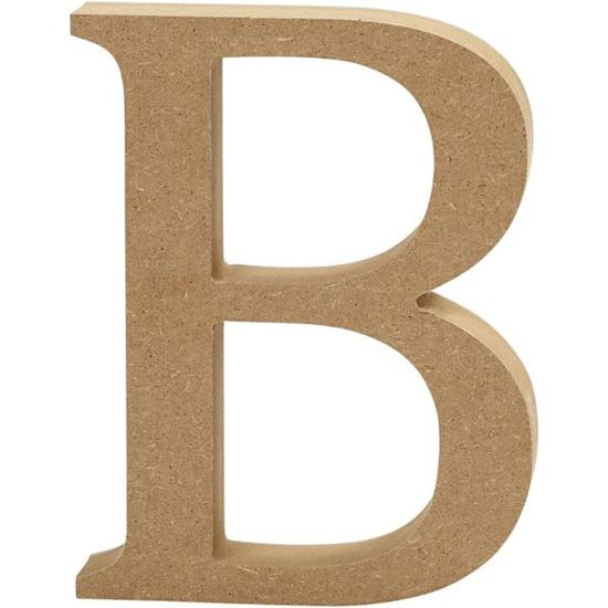 Picture of MDF Wooden Letter B (8cm)