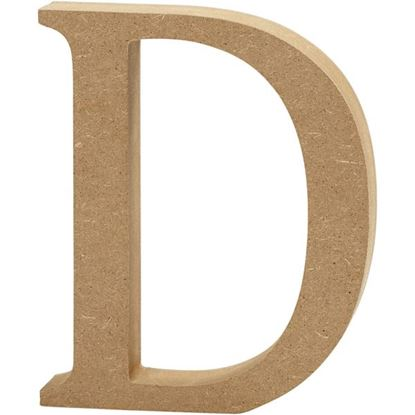 Picture of MDF Wooden Letter D (8cm)
