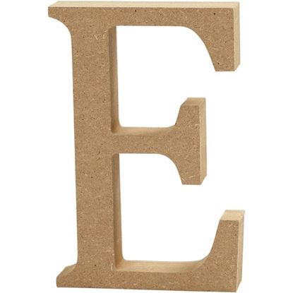 Picture of MDF Wooden Letter E (8cm)