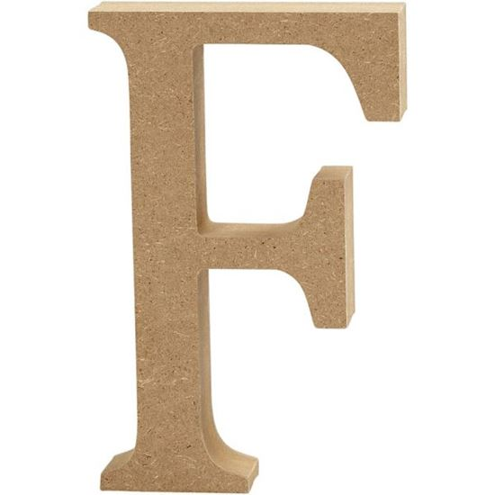 Picture of MDF Wooden Letter F (8cm)