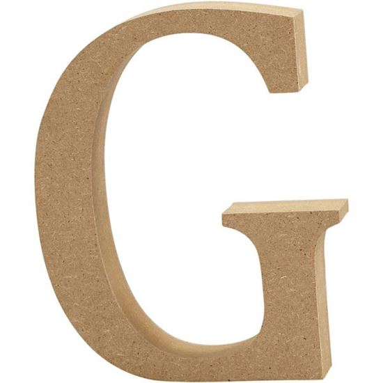 Picture of MDF Wooden Letter G (8cm)