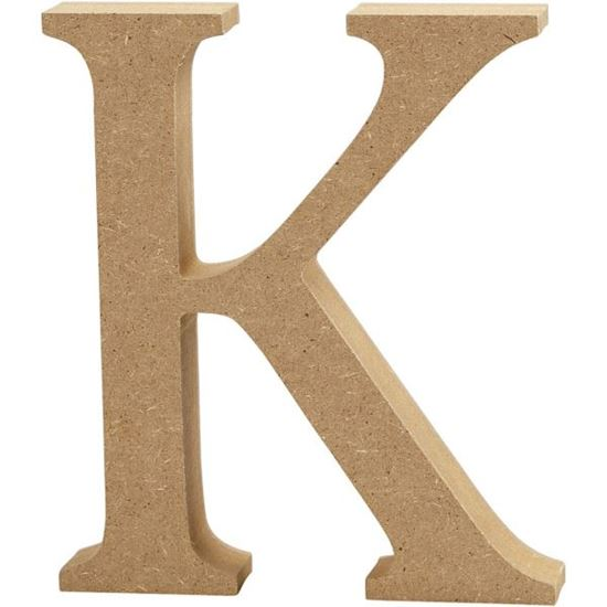 Picture of MDF Wooden Letter K (8cm)