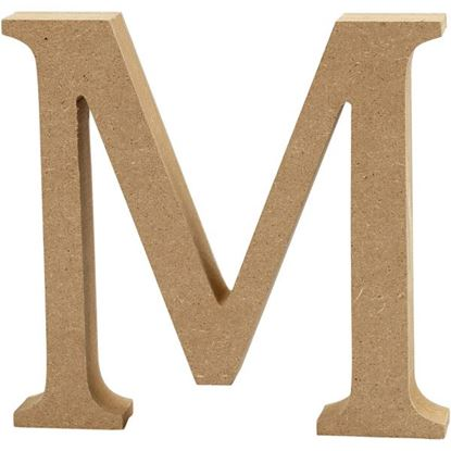 Picture of MDF Wooden Letter M (8cm)