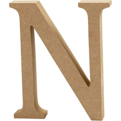 Picture of MDF Wooden Letter N (8cm)