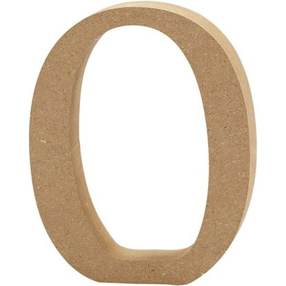 Picture of MDF Wooden Letter O (8cm)