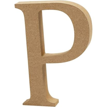 Picture of MDF Wooden Letter P (8cm)