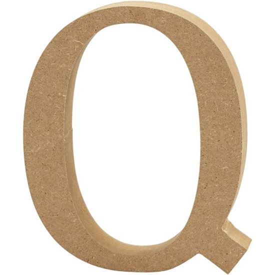 Picture of MDF Wooden Letter Q (8cm)