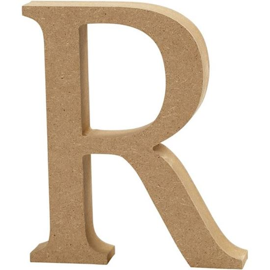 Picture of MDF Wooden Letter R (8cm)