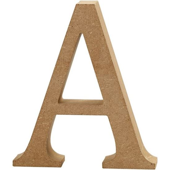 Picture of MDF Wooden Letter A (8cm)