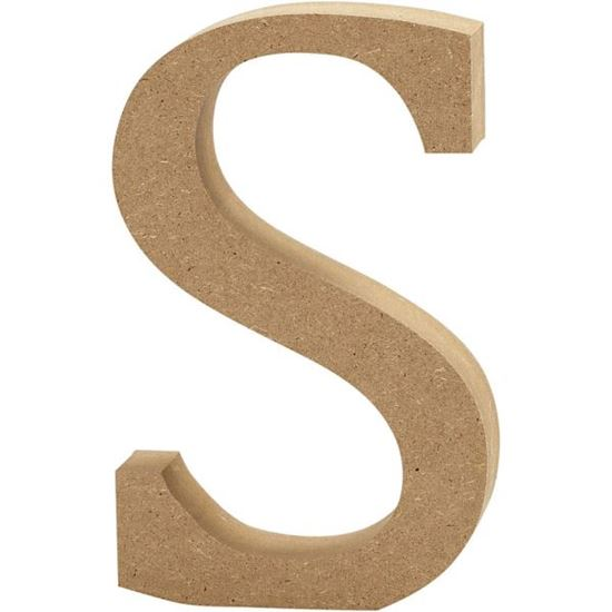Picture of MDF Wooden Letter S (8cm)