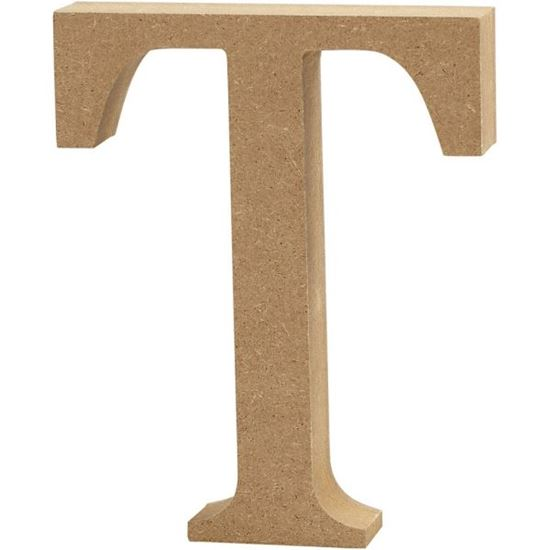 Picture of MDF Wooden Letter T (8cm)