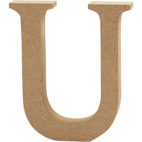 Picture of MDF Wooden Letter U (8cm)