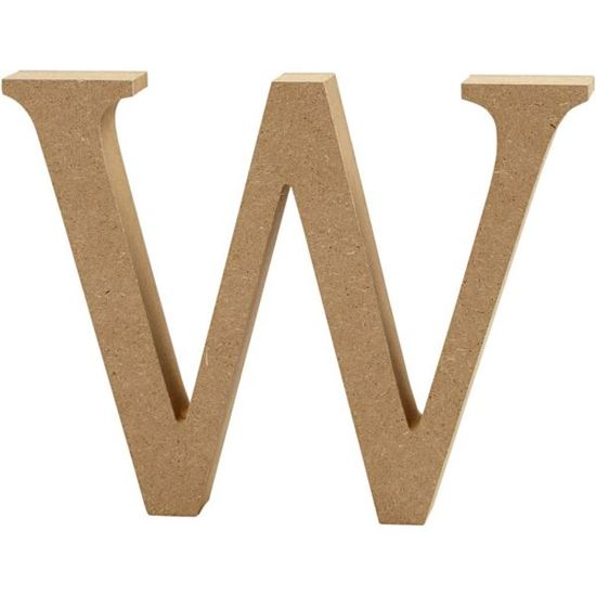 Picture of MDF Wooden Letter W (8cm)